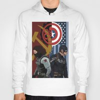 winter soldier Hoodies featuring Winter Soldier by Evan Tapper