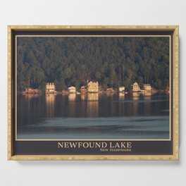 Houses on the Newfound Lake Serving Tray
