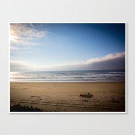Oregon Beach in Fall Canvas Print
