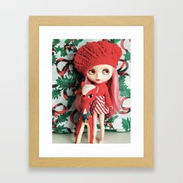rose and rudolph Framed Art Print