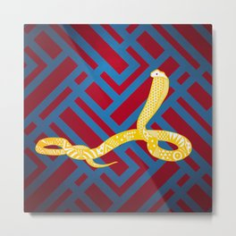 Art Deco Snake Metal Print