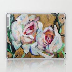 Two Roses on Gold Laptop & iPad Skin
