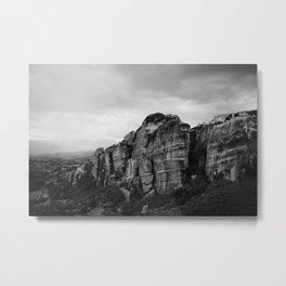 Cliffside Dwellings Metal Print