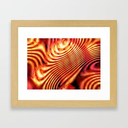 Hot flame Framed Art Print