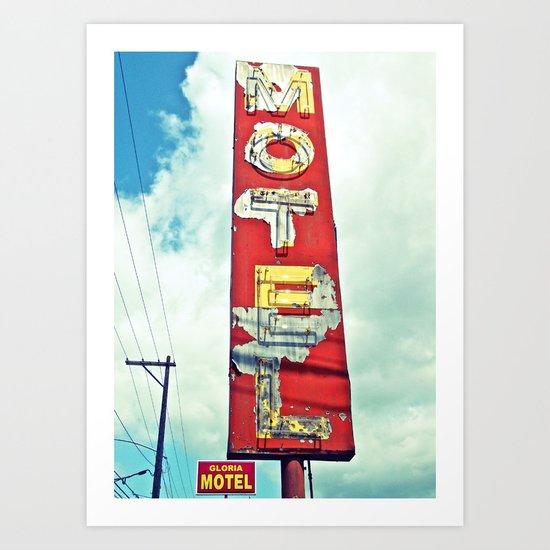 South Tacoma motel sign Art Print