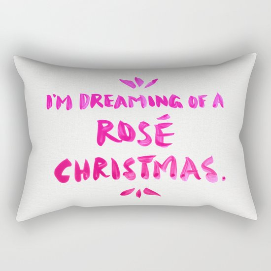 Rosé Christmas Rectangular Pillow