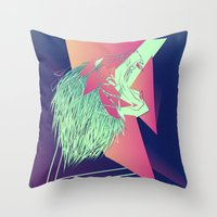 leon Throw Pillows featuring LEON z7 by Edgar Gomez UniverZ7