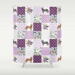 Australian Cattle Dog cheater quilt pattern dog lovers by pet friendly Shower Curtain