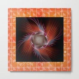 Autumn Colors Pinwheel Metal Print