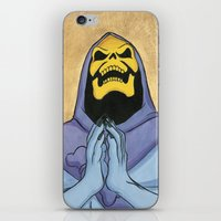 skeletor iPhone & iPod Skins featuring Saint Skeletor by Ghirigori Lab