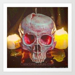 Catacomb Culture - Skull Candle Art Print
