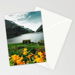 cottage in saksun faroe islands Stationery Cards