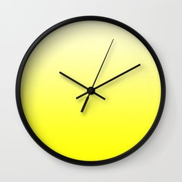 Pastel Yellow to Yellow Horizontal Linear Gradient Wall Clock