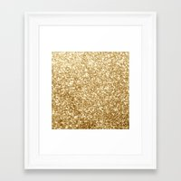 gold glitter Framed Art Prints featuring Gold glitter by Masanori Kai