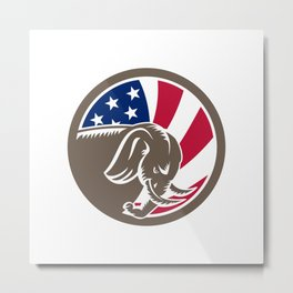 Republican Elephant Mascot USA Flag Metal Print