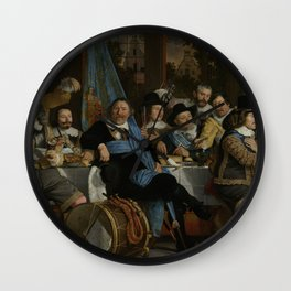Bartholomeus Van Der Helst - Banquet At The Crossbowmen s Guild In Celebration Of The Treaty Of Muns Wall Clock