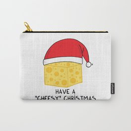 Have a cheesy Christmas Carry-All Pouch