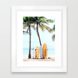 Choose Your Surfboard Framed Art Print