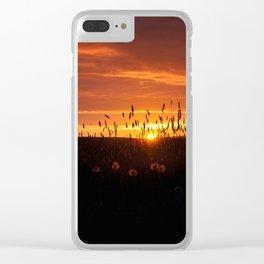 Midnight Sun. Clear iPhone Case