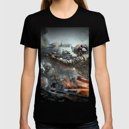 US Marines Devil-Dogs are marching on T-shirt