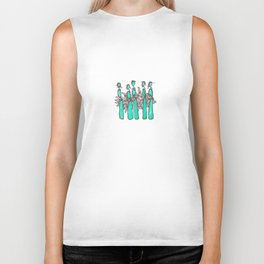 Teal People Biker Tank