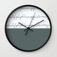 Alphabet-Grey Wall Clock