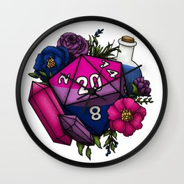 Pride Bisexual D20 Tabletop RPG Gaming Dice Wall Clock