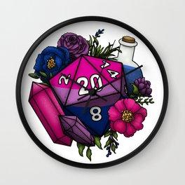 Pride Bisexual D20 Tabletop RPG Gaming Dice Wall Clock