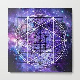 Sacred Geometry: Stardust Metal Print