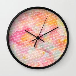 Watercolor Arrows Wall Clock