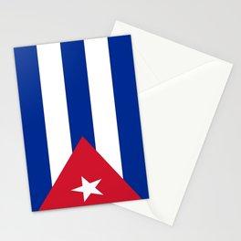 Flag of Cuba -cuban,havana, guevara,che,castro,tropical,central america,spanish,latine Stationery Cards