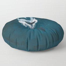 Whale Heart Splash Floor Pillow