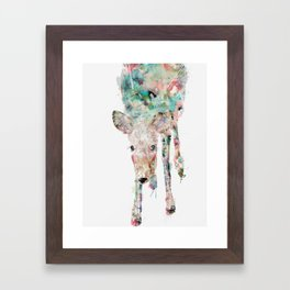into the wild little deer Framed Art Print
