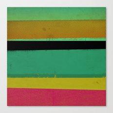 Stripes on Aqua Canvas Print