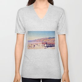 I Like California Beaches, Do You? Unisex V-Neck
