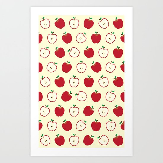 Cute Apple Picture Pattern Art Print