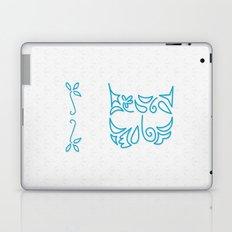 B Scallop: Blue Laptop & iPad Skin