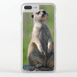 Posing Meerkat Clear iPhone Case
