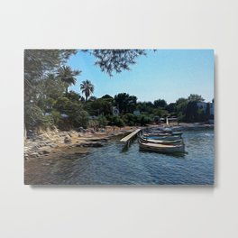 Foreshortening in Antibes, French Riviera Metal Print