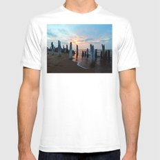 Pillars of the Past at Dusk MEDIUM Mens Fitted Tee White