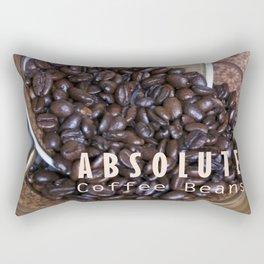 COFFEE BEANS with Blue Artichoke Rectangular Pillow