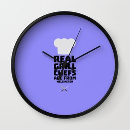 Real Grill Chefs are from Wellington D2ocq Wall Clock