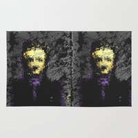 edgar allan poe Area & Throw Rugs featuring Edgar Allan Poe by brett66