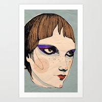 make up Art Prints featuring make up by Le Butthead