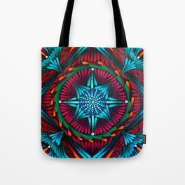 Compass Mandala Tote Bag