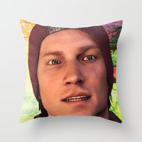 infamous Throw Pillows featuring InFamous: Second Son - Delsin Rowe by Felicia