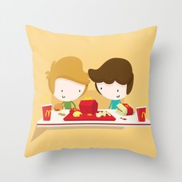 Fast Food Love Throw Pillow