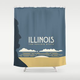 Illinois - Redesigning The States Series Shower Curtain