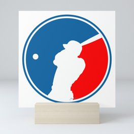 Blank Baseball Logo Mini Art Print