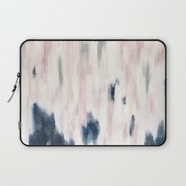 Blush Pink and Blue Pretty Abstract Laptop Sleeve